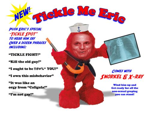 Tickle Me Eric Advertisement copy